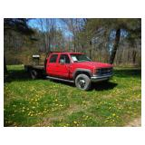 2000 Chevy 3500 4x4 flat bed 1-OWNER!