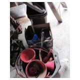 Large Plastic Oil Drain Pan W/Funnels