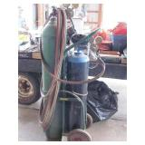 Acetylene Torch Set W/Cart, Hoses & Cutting Heads