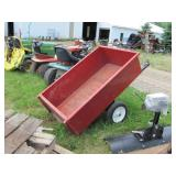 Steel Tub Lawn Cart w/dump