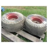 2pc Goodyear 26x12.00-12 Terra-Tires on Rims