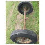 axle w/ 5 bolt rims & tires