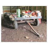 hay wagon running gear w/ metal deck