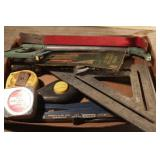 Tape Measures, square, chalk line, blades etc