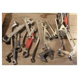 Box end wrenches, adjustable wrench, gear wrenches