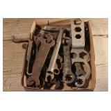 Flat wrenches, chainsaw wrenches etc