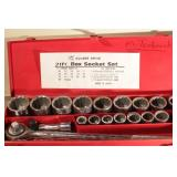 "3/4"" drive socket set w/ ratchet & breaker bar"
