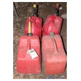 4pc 5 Gallon Poly Gasoline Cans