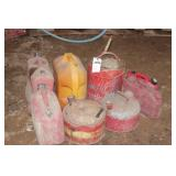 8pc Steel & Poly Fuel Cans