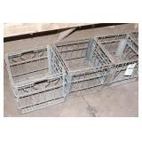 4pc Wire Milk Crates