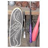 Skateboard, Baseball Bats & Hockey Sticks