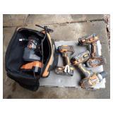 6pc Rigid cordless tool set