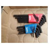 allen wrenches - 4 sets