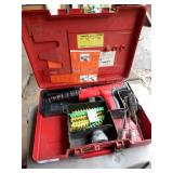 Hilti DX350 power fastener tool in case