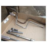 2 speed wrenches, breaker bar, extentions