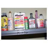 lubricants, fuel stabilizer, & tire inflator