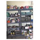 pair of garage shelves
