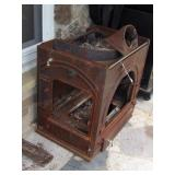 Fireplace insert - cast iron  & wood