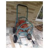 hose reel - 4 wheel  w/ crank