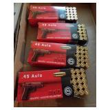 45. auto ammunition - 200 rounds