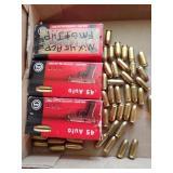 45. auto ammunition - 190 rounds