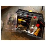 small poly tool box w/ gun repair tools
