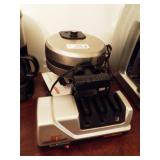 cuisinart waffle iron w/ trizor sharpener