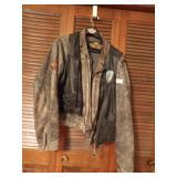 leather jacket & leather vest