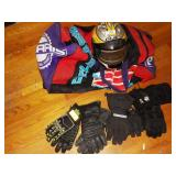 yamaha snowmobile bag w/ bombadier helmet