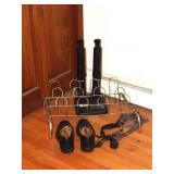 shoe rack, boot dryer & pair of dress shoes