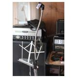 2 mic stands & a music stand
