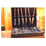 WM rodgers silver plated flatware set