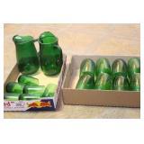Emerald green glass Tea/Lemonaid sets