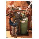 small oxygen / acetylene tanks & torch