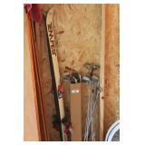 golf clubs & skis