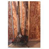 Leaf rakes shovel & scraper