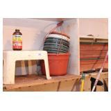 Garden pots & step stool