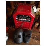 Lincoln AC/DC Arc welder, helmet, gloves