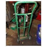 Green hand cart w/ hard rubber wheels