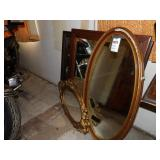 Wall Mirrors - oval & rectangular framed