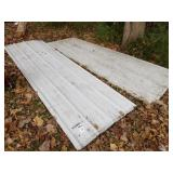Pole barn steel - white - 15 sheets