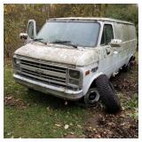 1989 White Chevy 20 Cargo Van