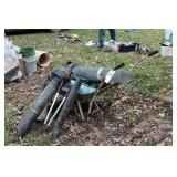 Wheelbarrow, garden hose, hardware cloth etc