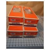 Lionel Aluminum Passenger Cars - 4pcs