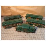 5pc Lionel Standard Ga Engine & Coach Car Set