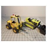 Tonka bulldozer & articulated forklift