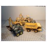 Dump truck, backhoe & skidloader (ERTL)