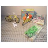 Toy doll bicycles (3pcs)