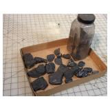 """2.5 lbs Coal Pieces - 1x1.5x3"""" and Smaller"""