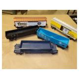 Lionel O27 Automatic dump, gondolas, boxcar